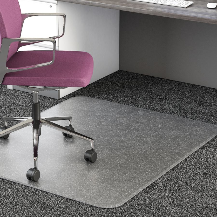 Stylish Realspace 35percent Recycled All Pile Studded small desk chair mats for carpet