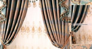 Stylish Retro style curtains with delicate Patterns of Chenille retro style curtains