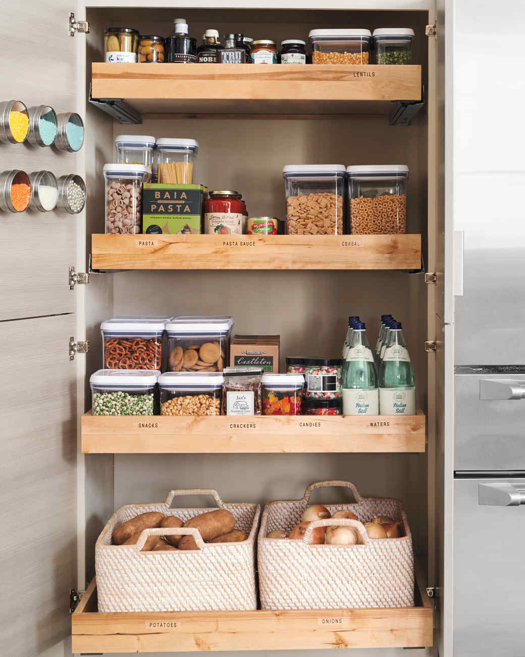 Stylish Roll It Out kitchen pantries for storage