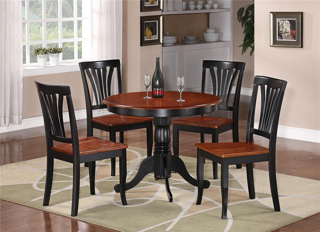 Stylish Round Marble Top Dining Table Set ... round kitchen table sets for 4