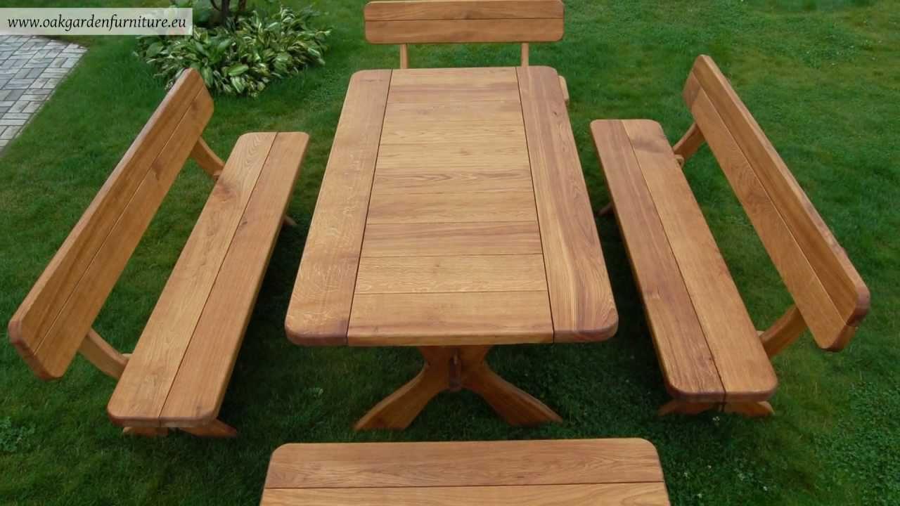 Stylish Wooden garden furniture set - YouTube wooden garden furniture