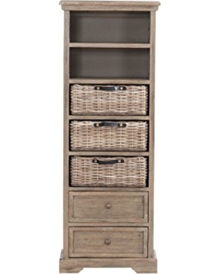 Pictures of jeffan simone tall bookcase 2 drawers3 baskets 2 shelves grey. tall bookcase with drawers