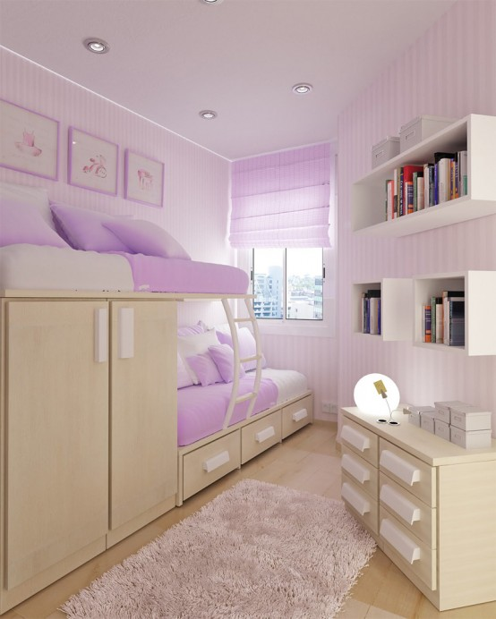 Amazing Good layout for a shared triangle-shaped room. teenage bedroom ideas for small rooms