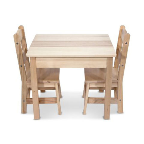 Elegant Melissa And Doug Wooden Table 2 Chairs Set Toddler