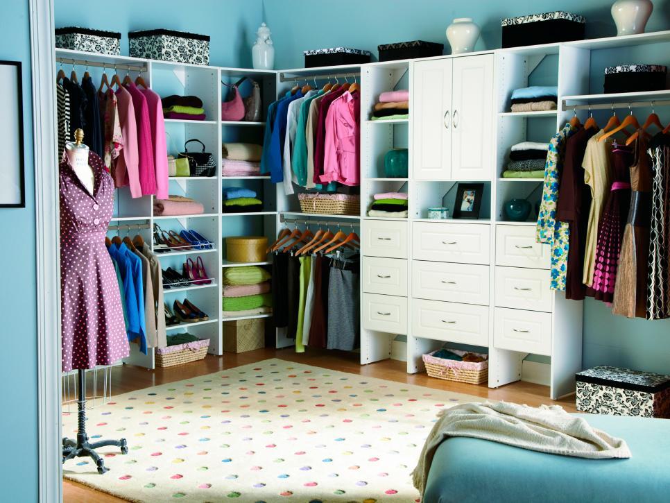 Trending 10 Stylish Walk-In Bedroom Closets | HGTV bedroom with walk in closet