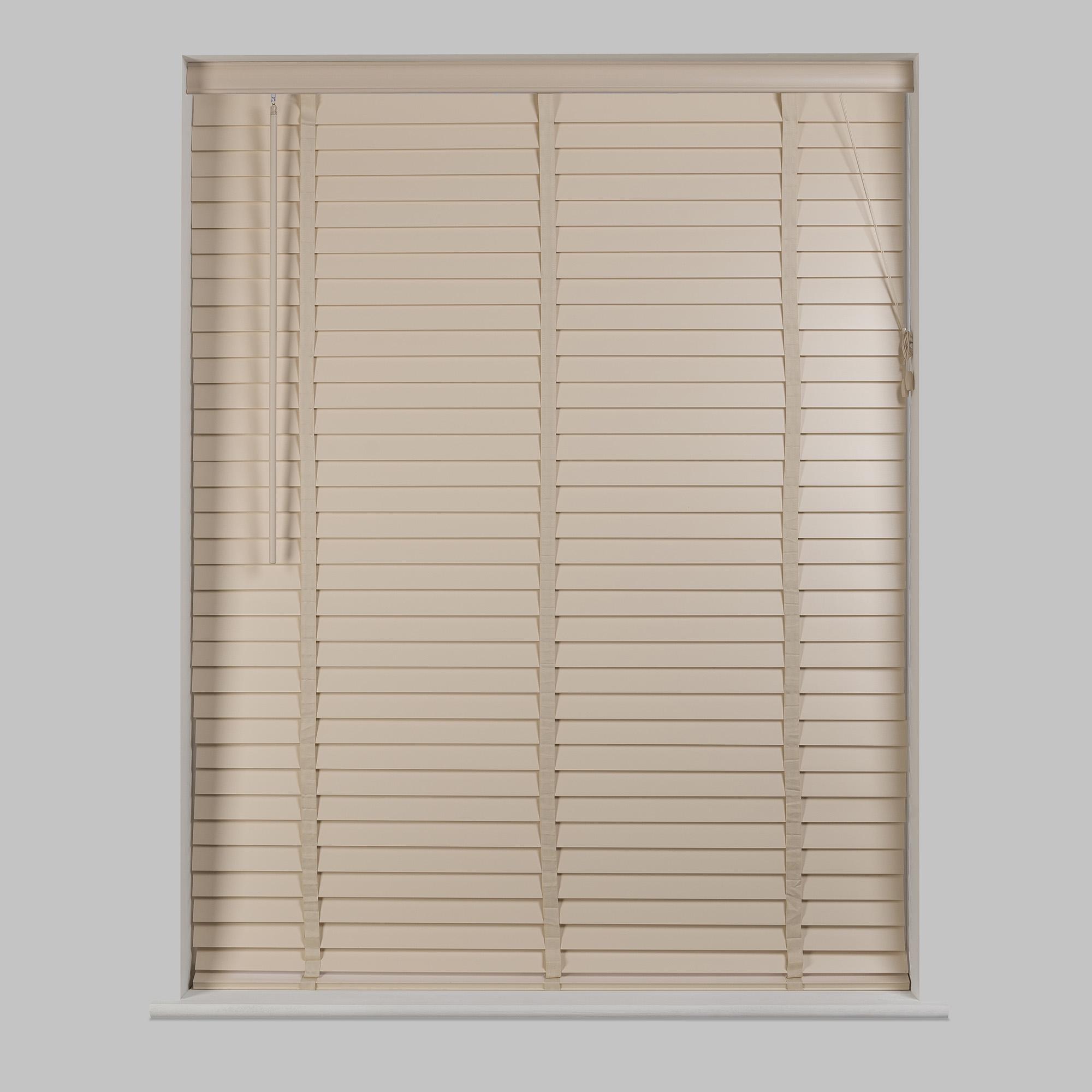 Trending 50mm Cream Hardwood Venetian Blind wooden venetian blinds