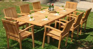 Trending 9-piece-teak-dining-set. Thinking of buying some teak patio furniture ... teak garden furniture sets