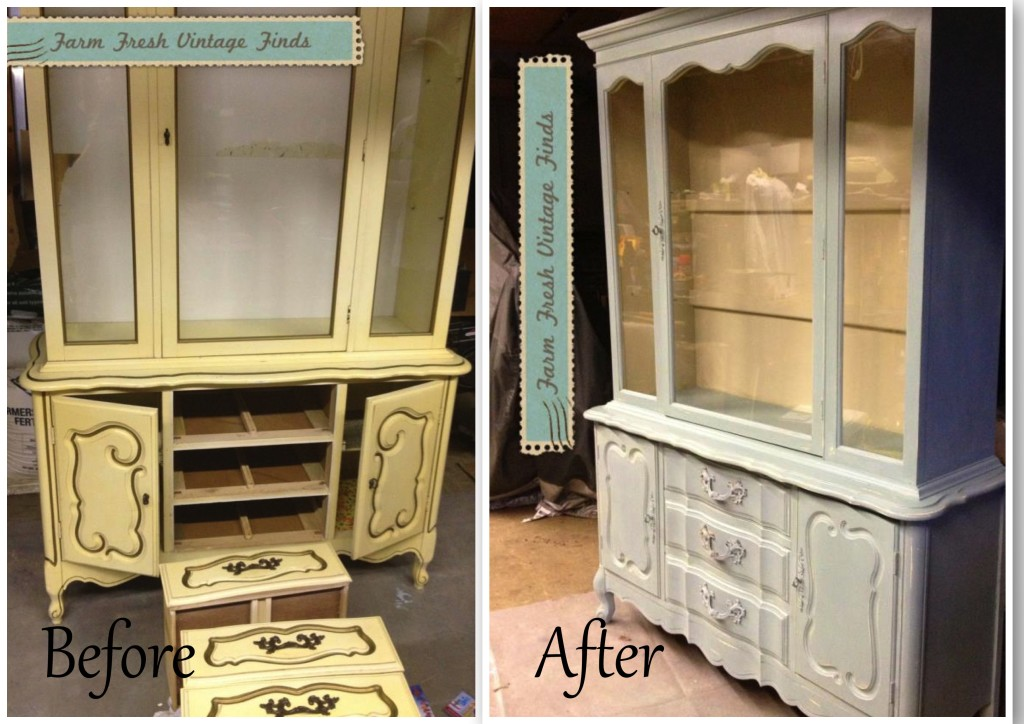 Trending Duck Egg Hutch painted furniture ideas before and after