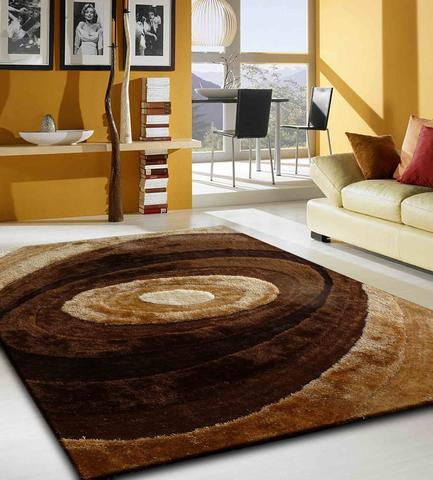 Trending Handmade 2 Tone Brown Dimensional Shag Area Rug with Hand Carved Design 7u00276 plush area rugs for living room