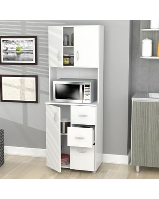 Trending Inval Tall Kitchen Storage Cabinet , Off-White kitchen storage cabinets