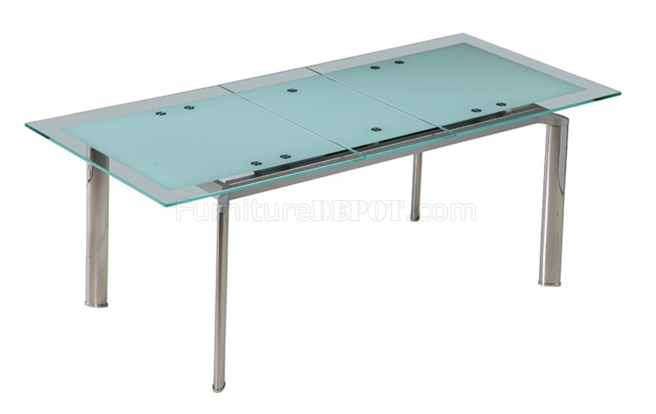 Trending Jack Extendable Dining Table w/Glass Top by Whiteline Imports glass top extendable dining table