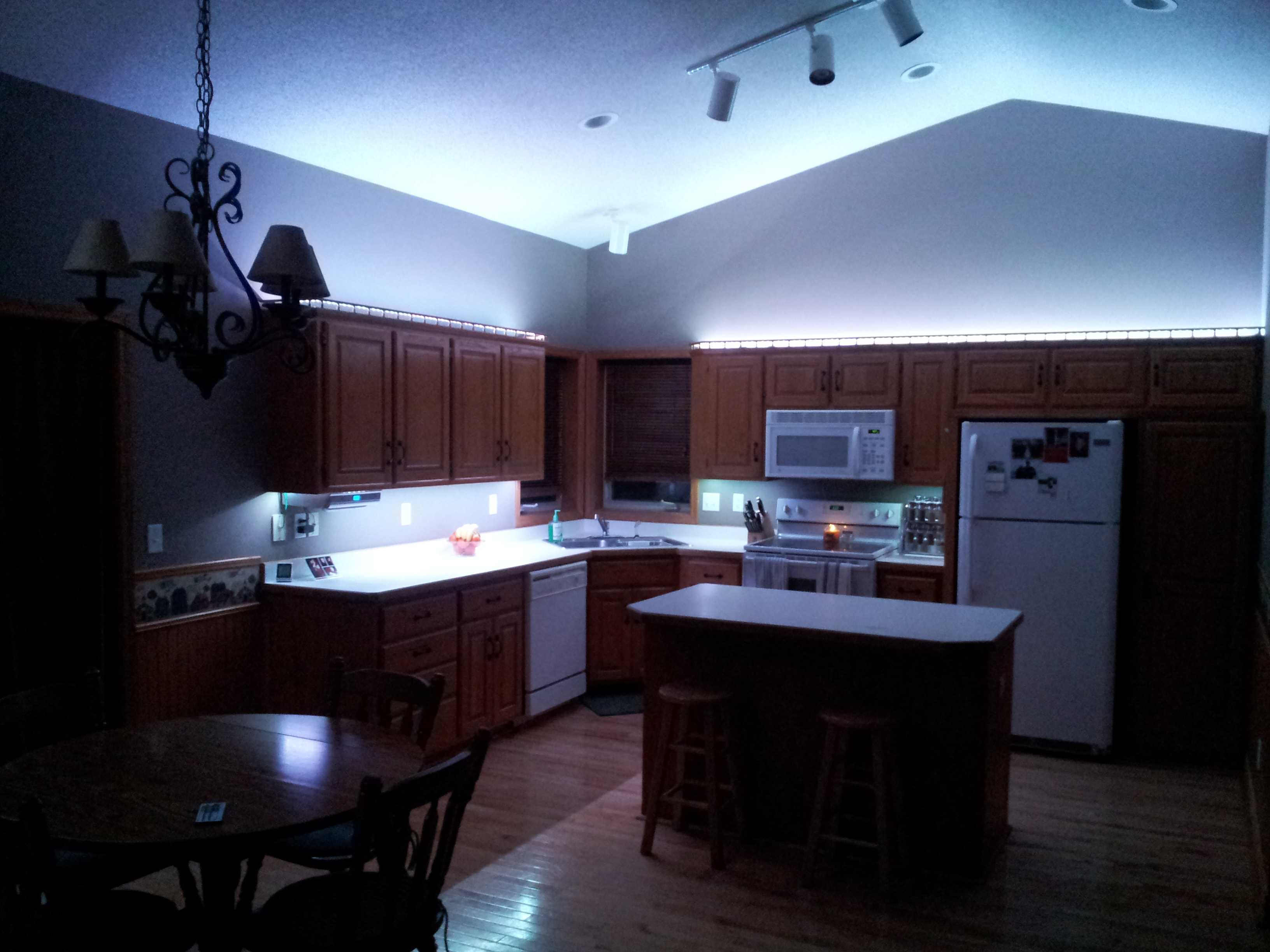 Led Kitchen Lighting Ceiling Lowes Blue Colored Light White Strip Under Led
