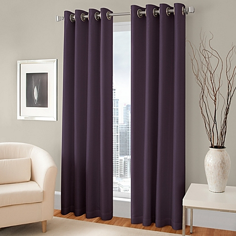 Trending Majestic Blackout Lined Grommet Window Curtain Panel grommet window panels