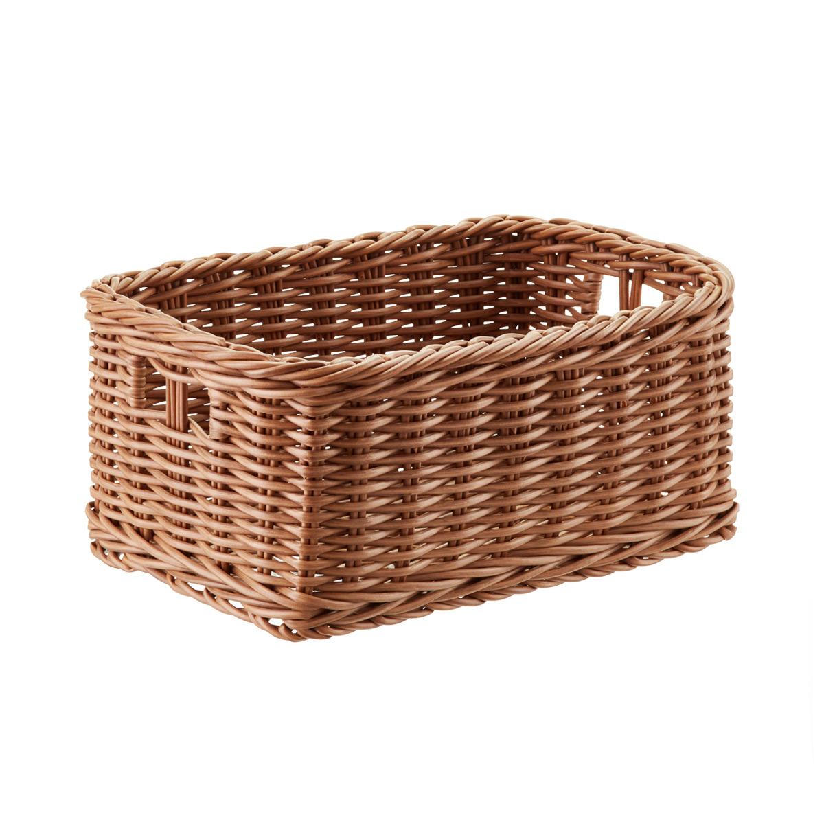 Trending Plastic Wicker Storage Bin with Handles wicker storage baskets