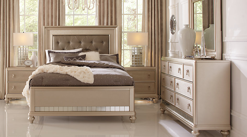 Trending Sofia Vergara Paris Silver 5 Pc Queen Bedroom queen size bedroom sets with mattress