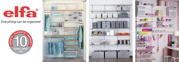 Trending Some elfa solutions - click for more wardrobe internal storage solutions
