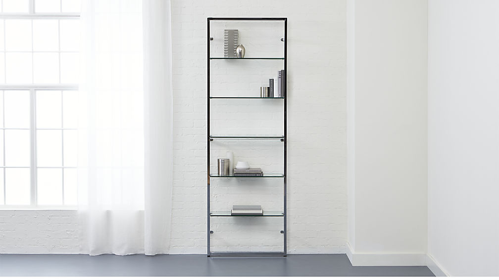 Trending tesso chrome 84 wall mounted bookcase