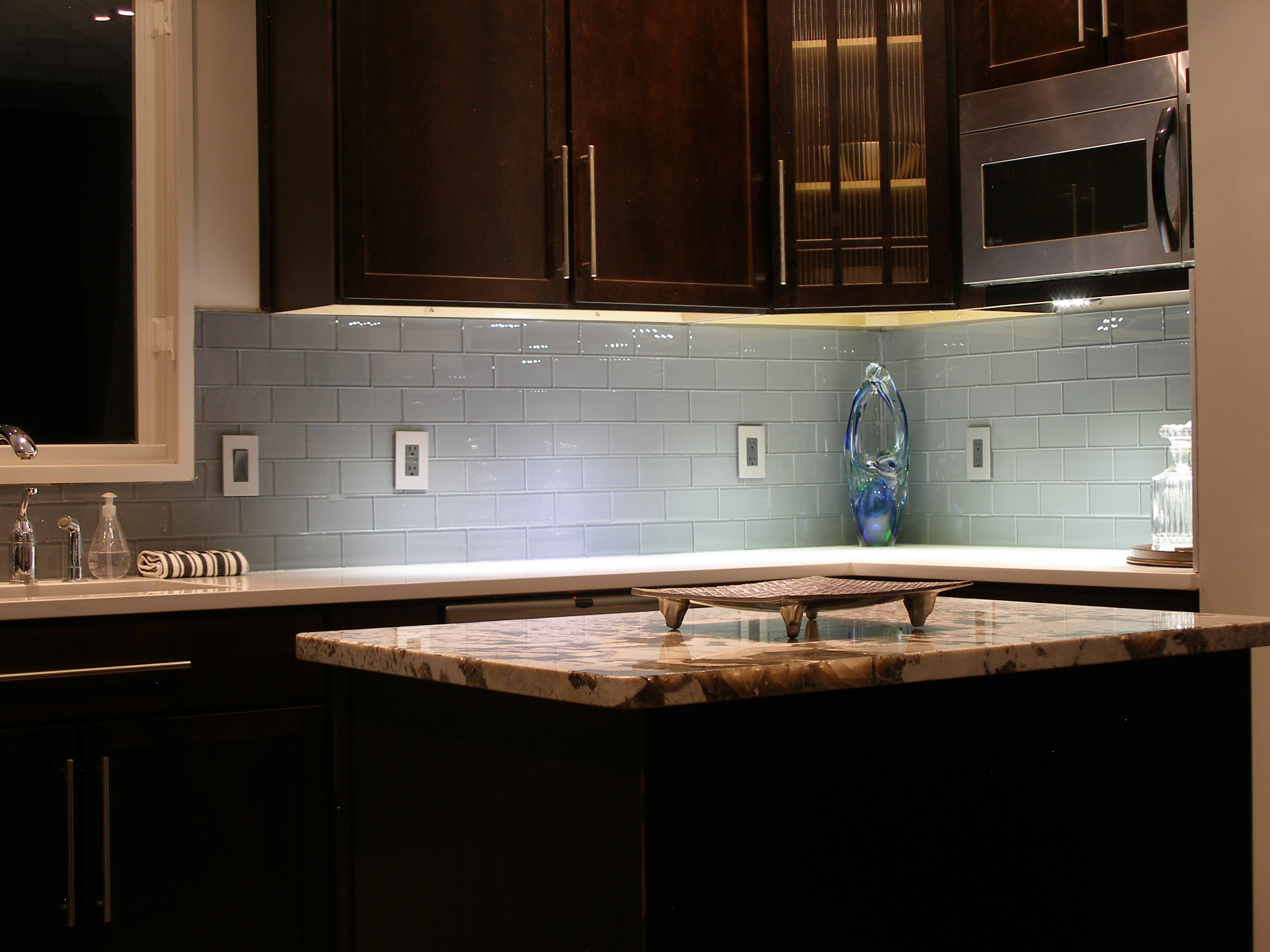 Trending Vapor Glass Subway Tile. Backsplash IdeasTile ... glass tile kitchen backsplash