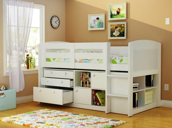 Images of White twin storage beds for kids with drawer twin storage beds for kids