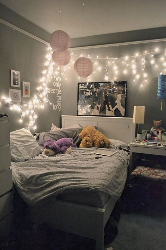 Unique 23 Cute Teen Room Decor Ideas for Girls teenage bedroom lighting ideas