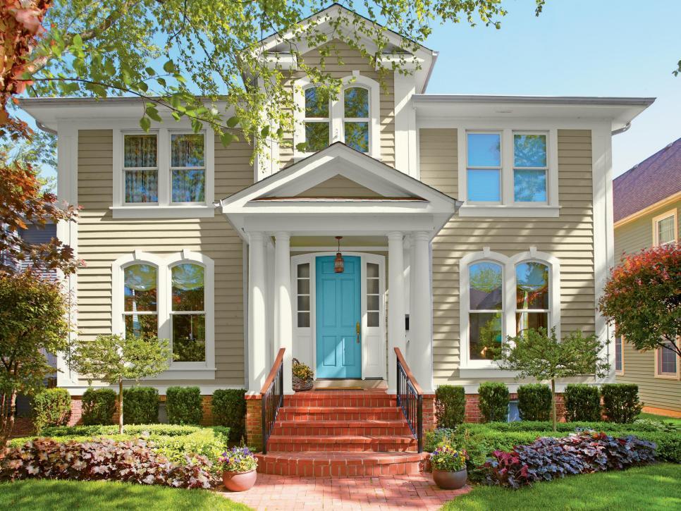 Unique 28 Inviting Home Exterior Color Ideas   HGTV exterior house paint colors
