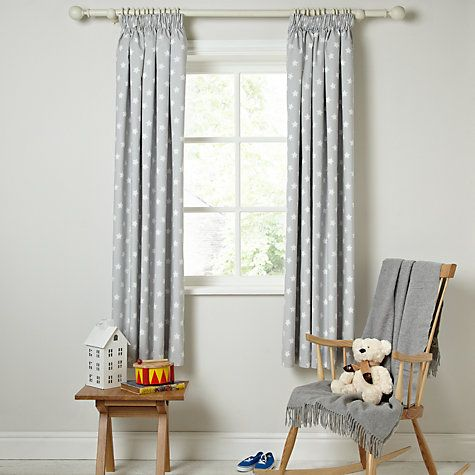 Unique Buy little home at John Lewis Star Pencil Pleat Blackout Lined Curtains nursery blackout curtains