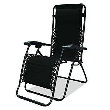 Unique Caravan Sports Infinity Zero Gravity Chair, Black zero gravity chair recliner