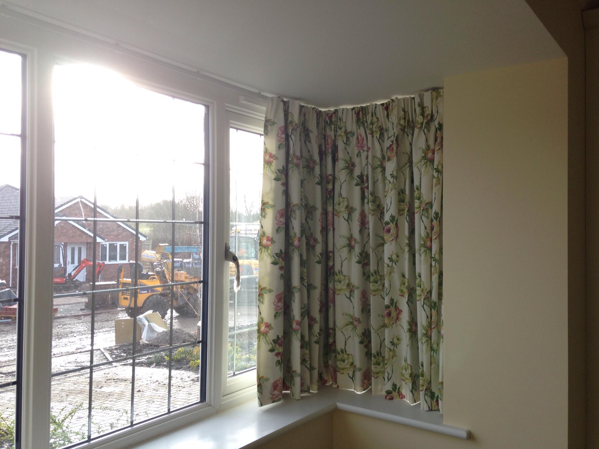 Unique Curtain track in square bay window. square bay window curtains