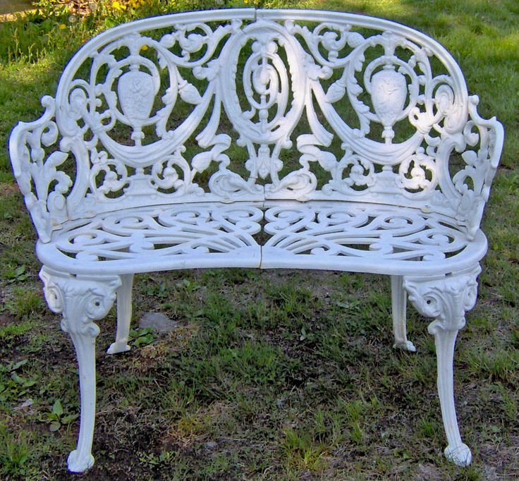 Unique I already own one of these courtesy of my Grandma --Cast iron wrought iron benches outdoor