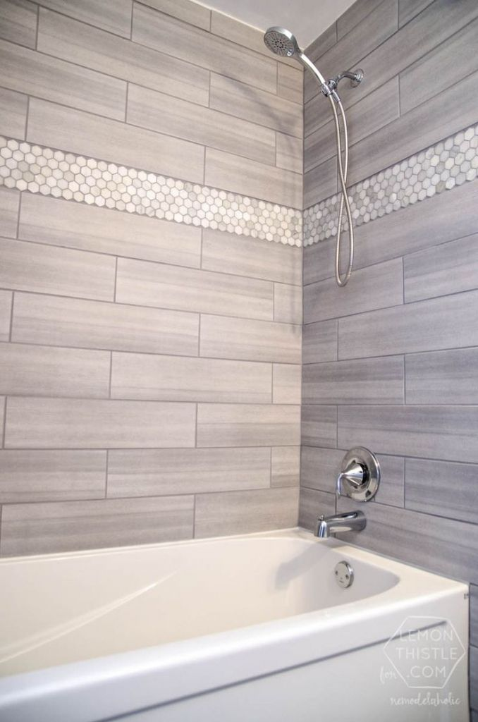 Unique Shower Tiles On Pinterest Tile Bathroom And Tile Ideas 12x24 Tile In tiling bathroom walls ideas