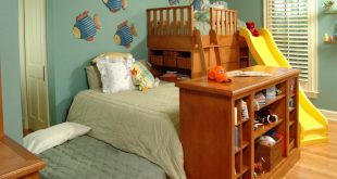 Unique Triple Play: Three Beds in the Space of One kids room storage