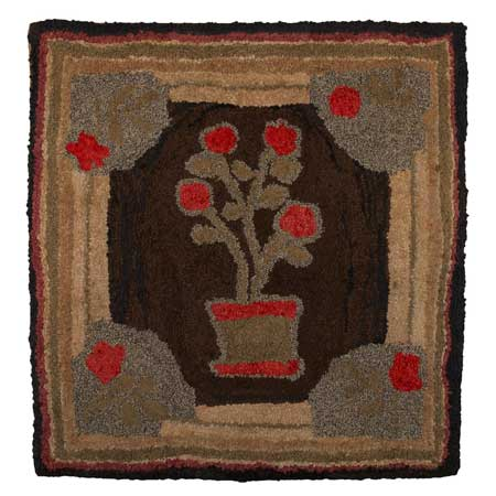 Stunning antique hook rug vintage hooked rugs