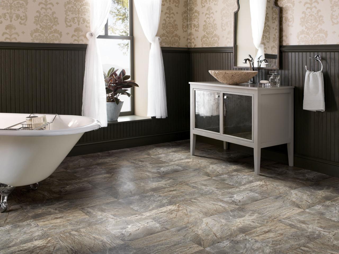 Compact Low-Cost Alternative vinyl flooring bathroom