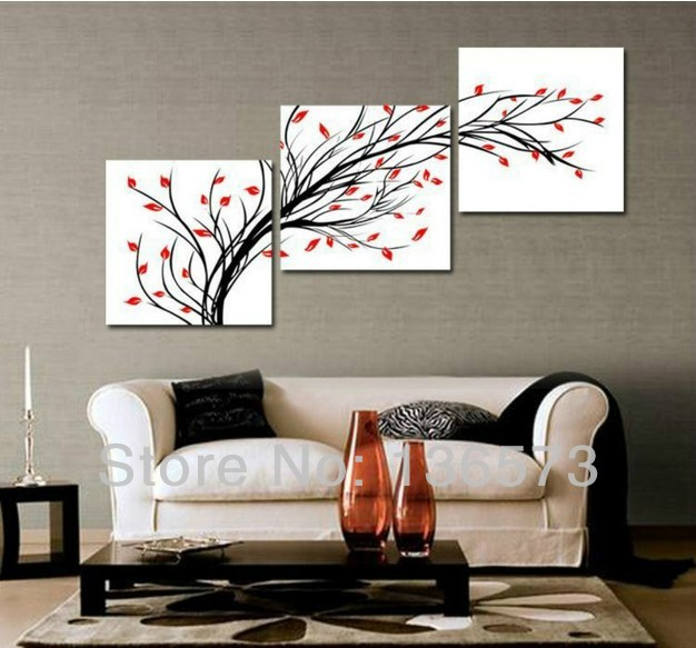 Chic Living room walls · 3+Diagonal+Wall+Art+Set | ... Piece Wall Art wall paintings for drawing room