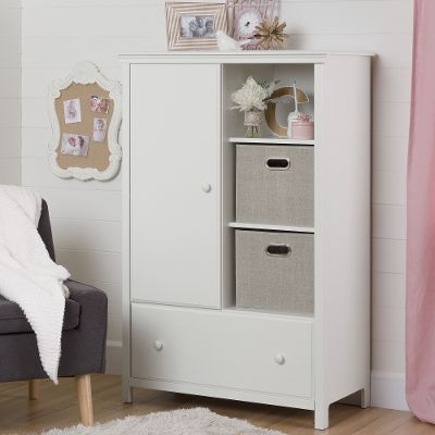 Best 10468 Cotton Candy White Armoire with Drawer white armoire with drawers