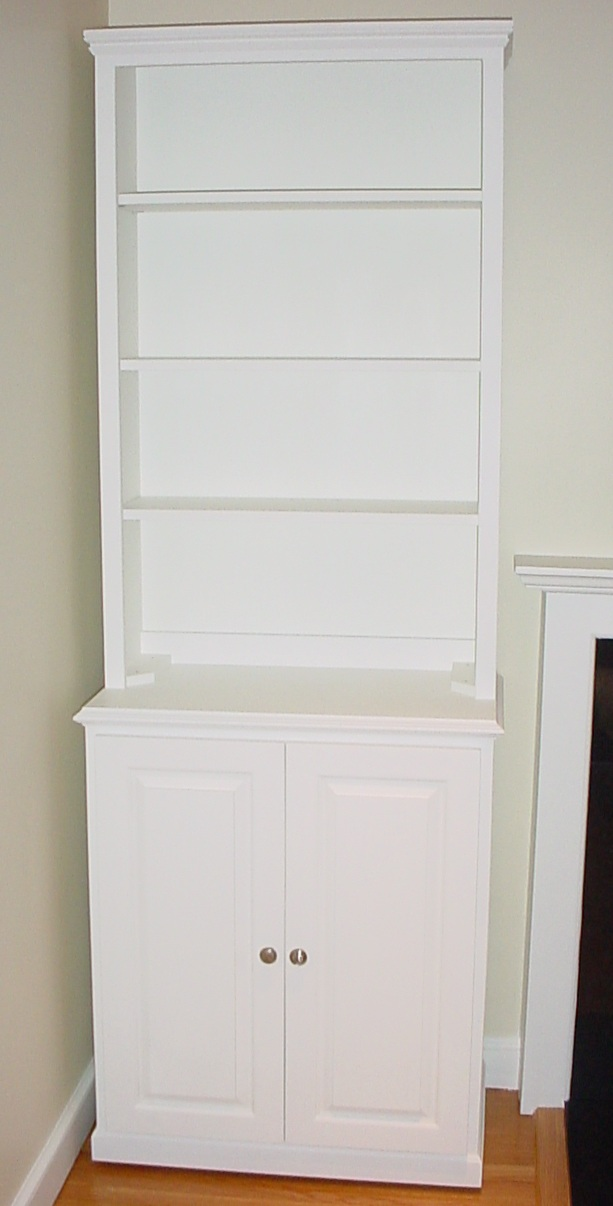 Stylish white+cabinets/+bookcase | Bookcase Cabinet with Doors white bookcase with cabinet