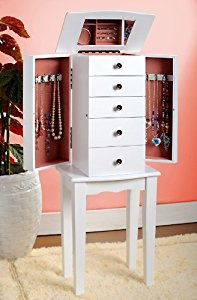 Best White Jewelry Armoire Chest white jewelry armoire