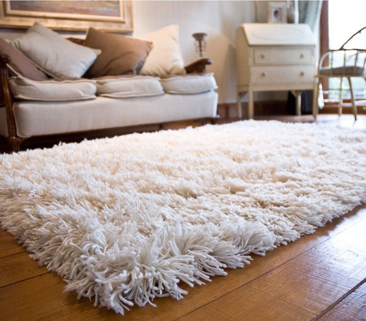 Chic 12 Ways to Stay Warm During Winter Without Burning Cash. Shag CarpetWool white shag carpet