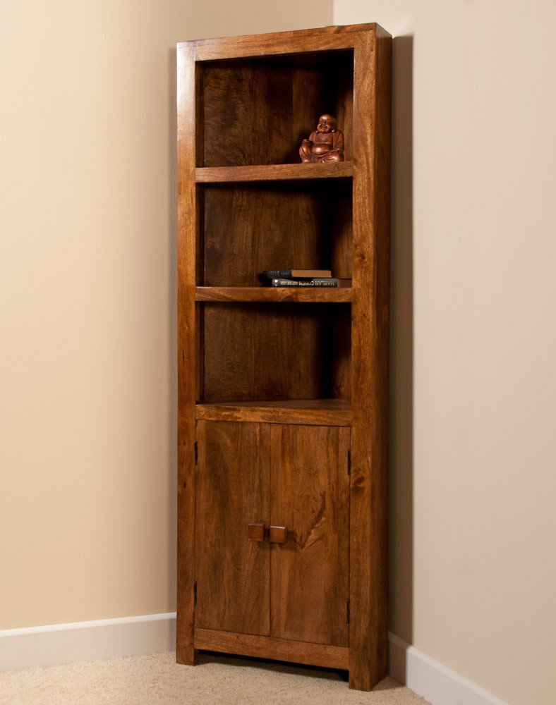 Chic Chunky Bookcase Unfinished Wood Corner wood corner bookcase