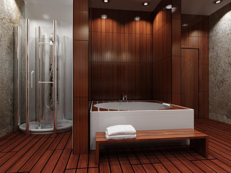 Photos of Is Wood Flooring in the Bathroom a Good Idea? - coswick.com wood flooring bathroom
