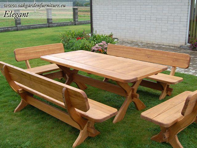 Wooden Garden Furniture  Brilliant Method For Brightening Your Garden