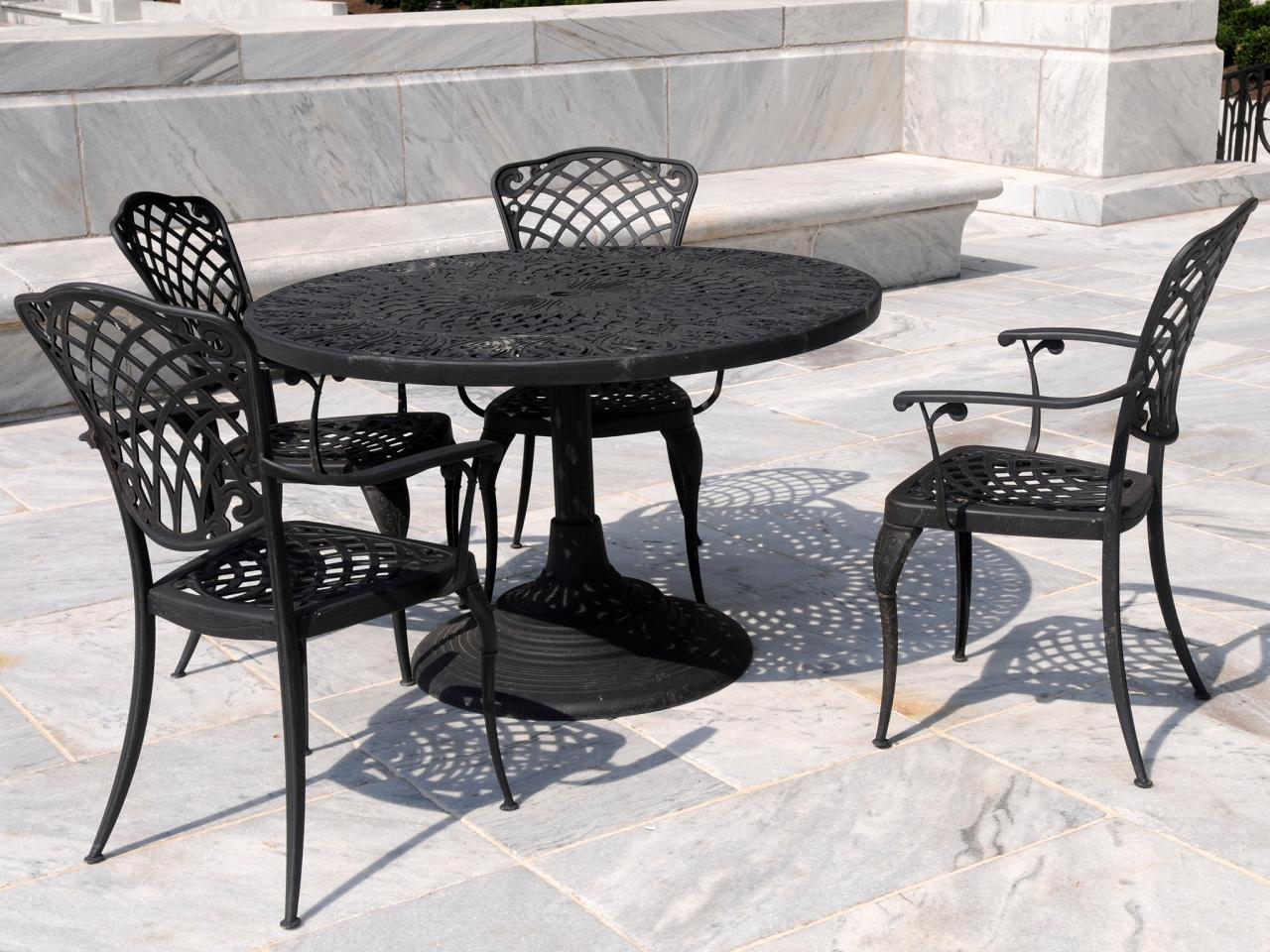 Chic Wrought Iron Patio Furniture wrought iron patio table