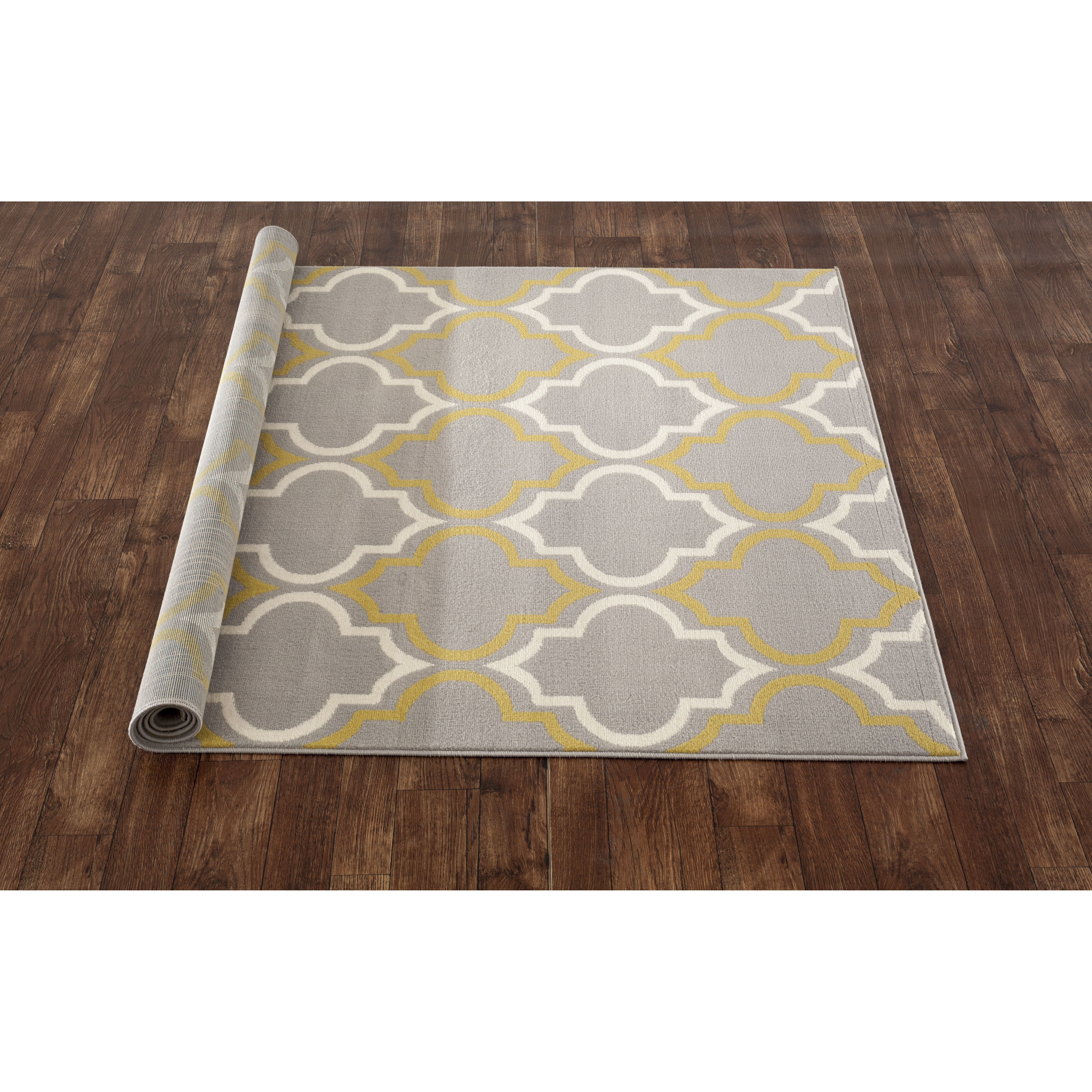 Best World Rug Gallery Newport Gray / Yellow Area Rug yellow grey area rug
