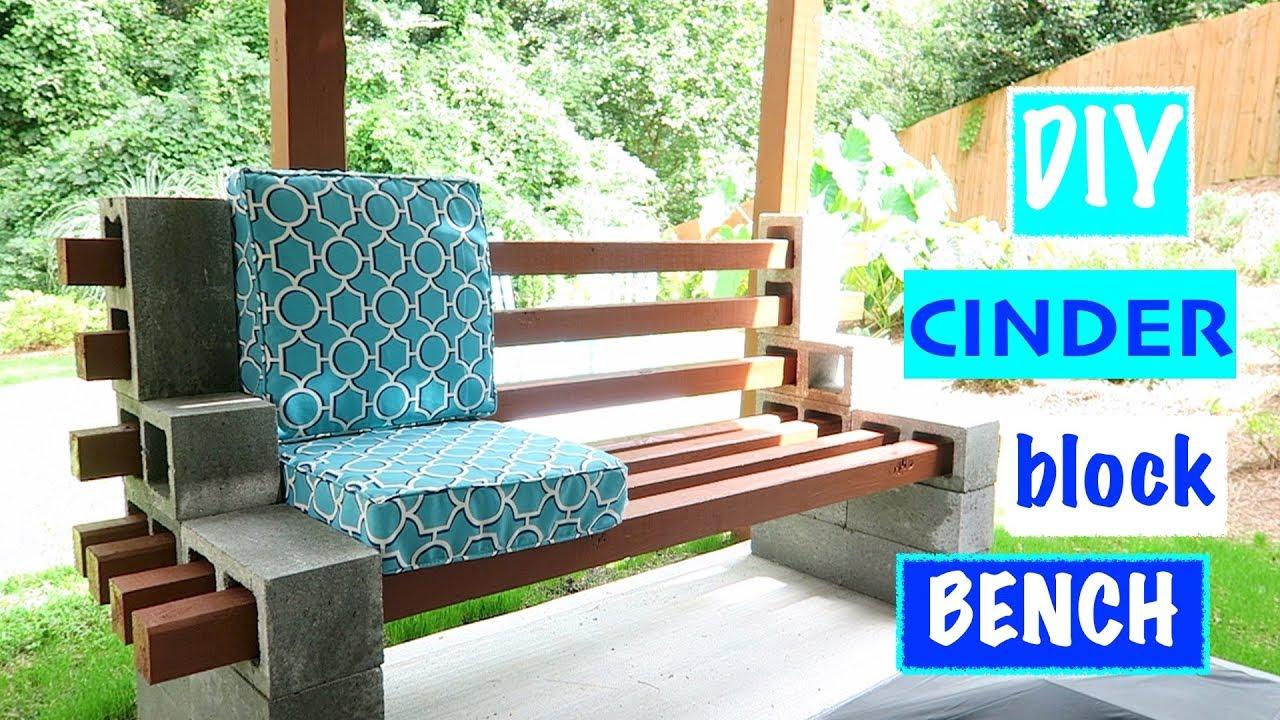 ️easy urban chic~ cinder block bench☀️ SNVHVRV