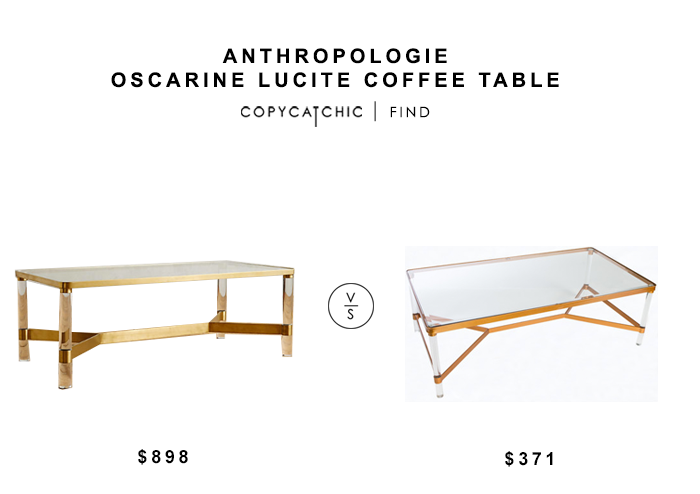 ... anthropologie oscarine lucite coffee table for $898 vs sears statements PGHZBEU