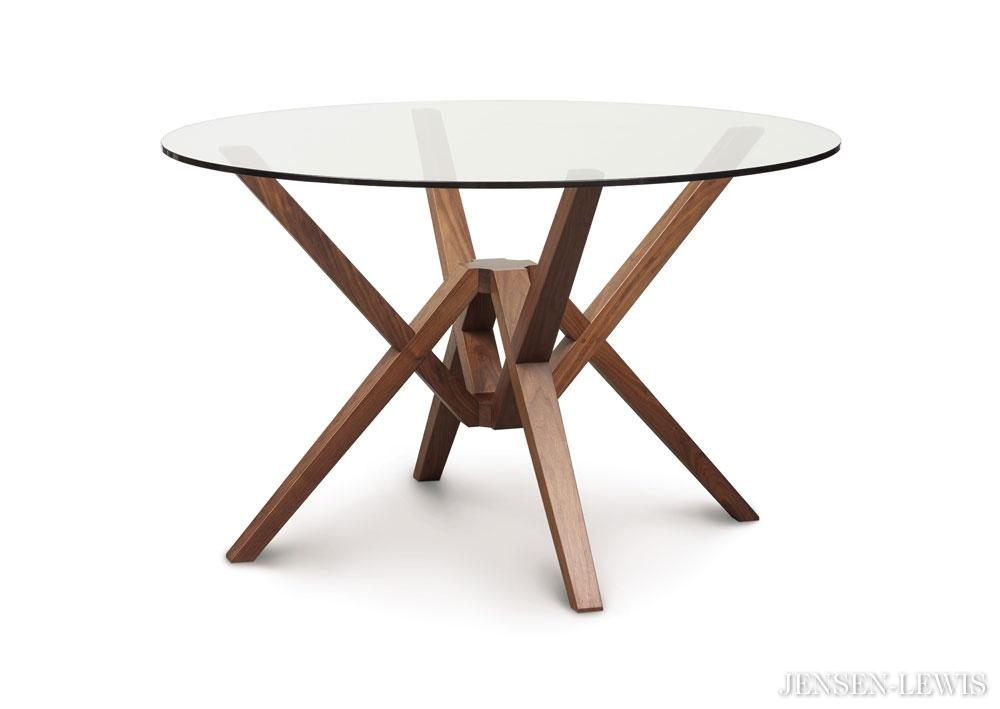 ... exeter round glass dining table ... ZNDMEAT