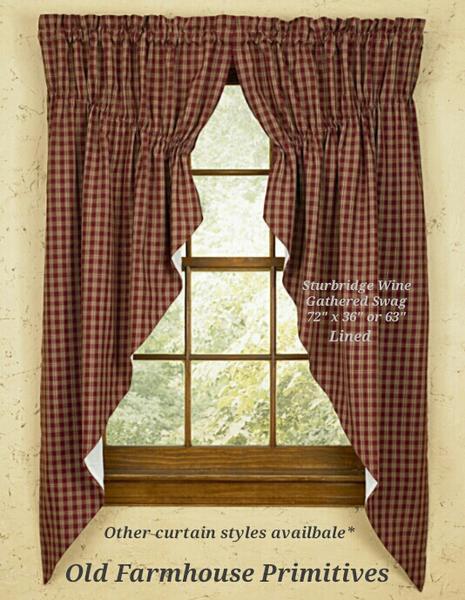 #stu1 sturbridge wine primitive curtains YPGTPIK