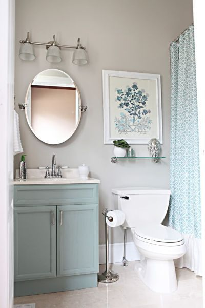 15 incredible small bathroom decorating ideas | stylecaster VPJEOOE