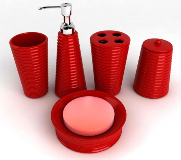 20 fascinating red bathroom accessories home design lover presented to your JSSCXTW