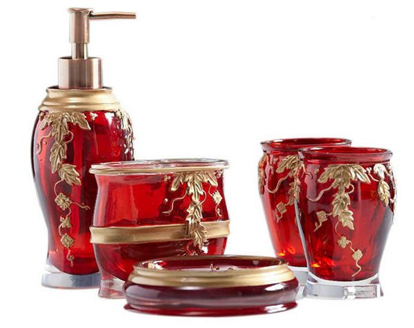 20 fascinating red bathroom accessories RFSHZVW